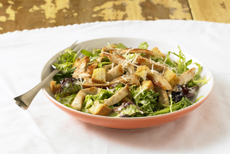 Easy Turkey Caesar Salad