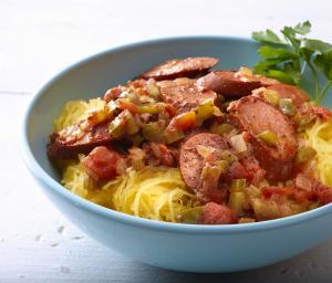 Spaghetti Squash Turkey Jambalaya
