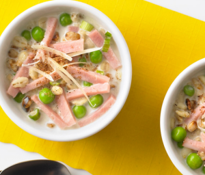 Turkey Ham & Barley Cream Soup