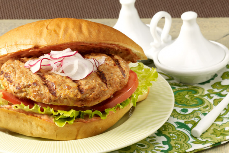 Moroccan-Style Turkey Burgers