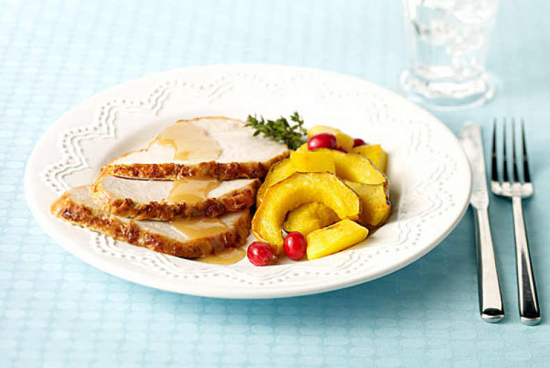 Turkey Roast with Squash