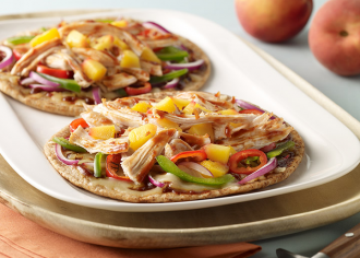 Sweet Barbeque Turkey Flatbread