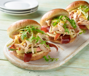 Smoked Turkey Sandwich with Apple Slaw