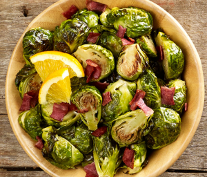 Roasted Honey and Bacon Brussels Sprouts