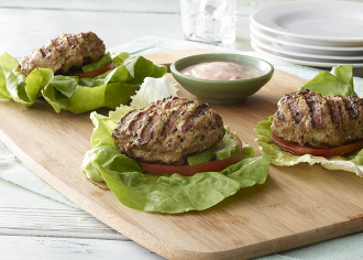 Turkey Burger Wrap with Creamy Salsa