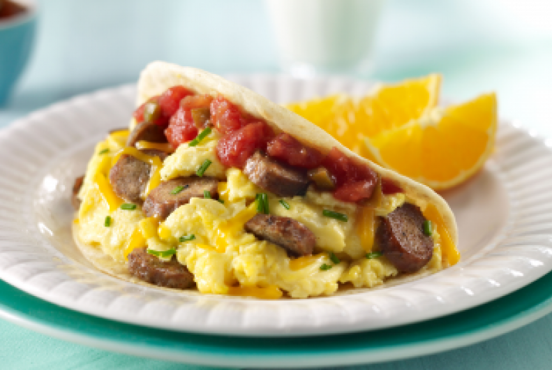 Breakfast Turkey Tacos
