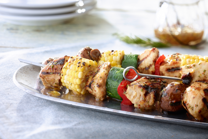 Grilled Turkey & Vegetable Kabobs