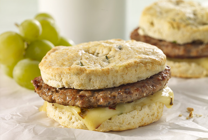 Turkey Sausage & Biscuit Sandwich | JENNIE-O® Turkey