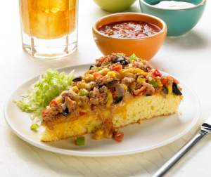Turkey Taco Pizza Pie