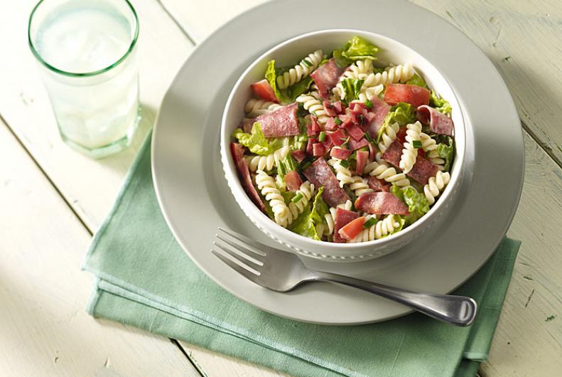 Pasta Salad with Turkey Bacon