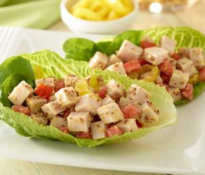 Turkey Lettuce Snack Wraps