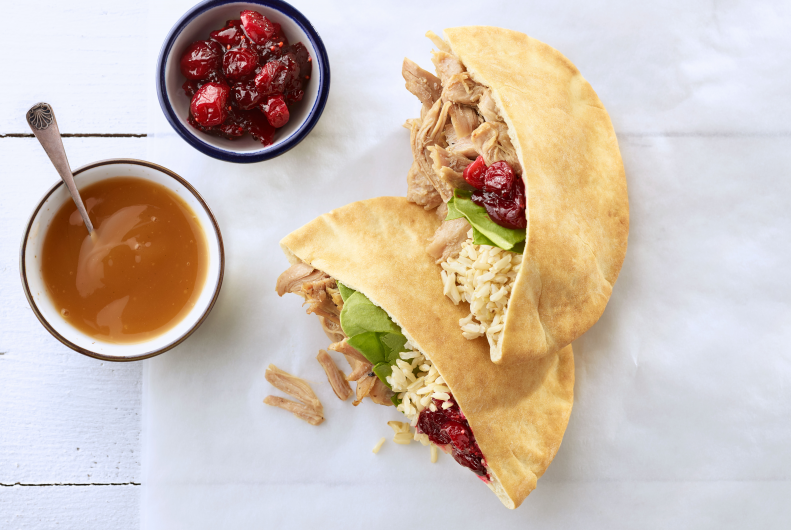 Turkey, Rice & Cranberry Pitas