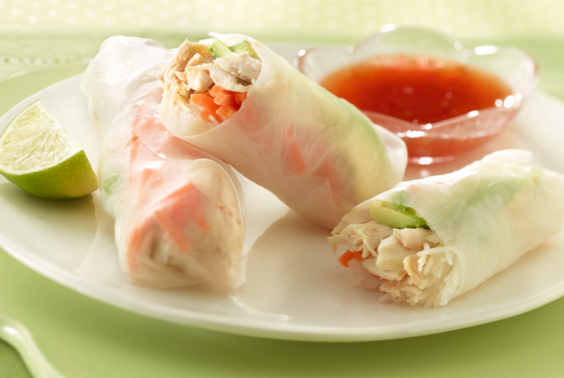 Avocado & Turkey Rice Rolls