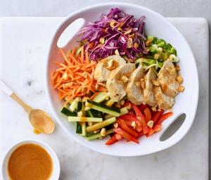 Turkey Zucchini Thai Noodle Salad