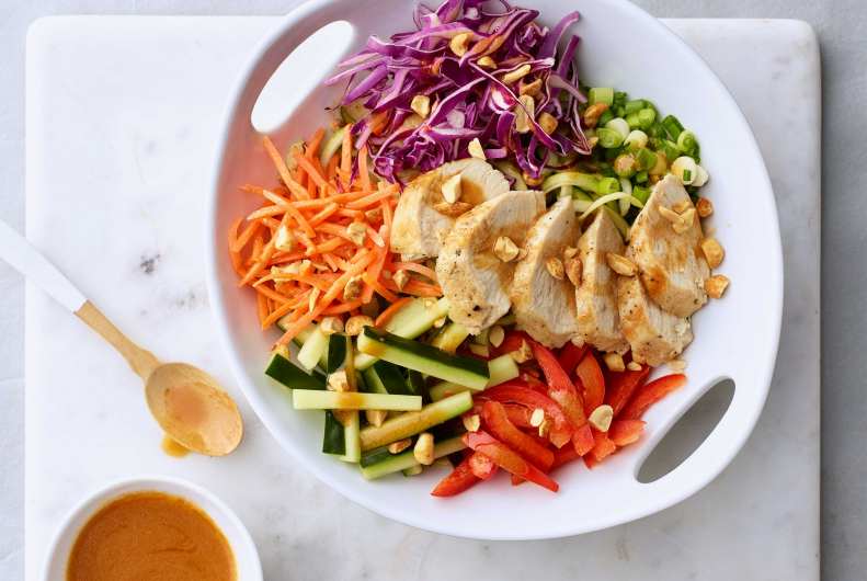 Turkey Zucchini Thai Noodle Salad