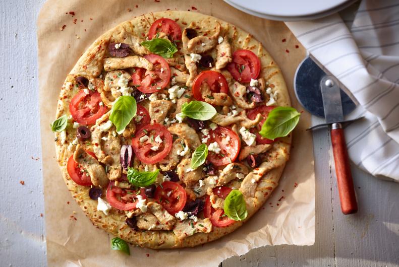 Mediterranean Turkey Pizza