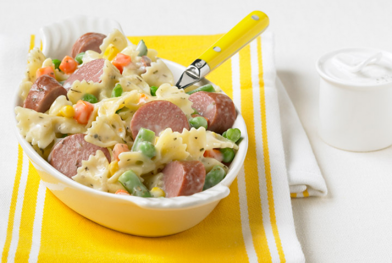 Bow Tie Pasta with Turkey Kielbasa