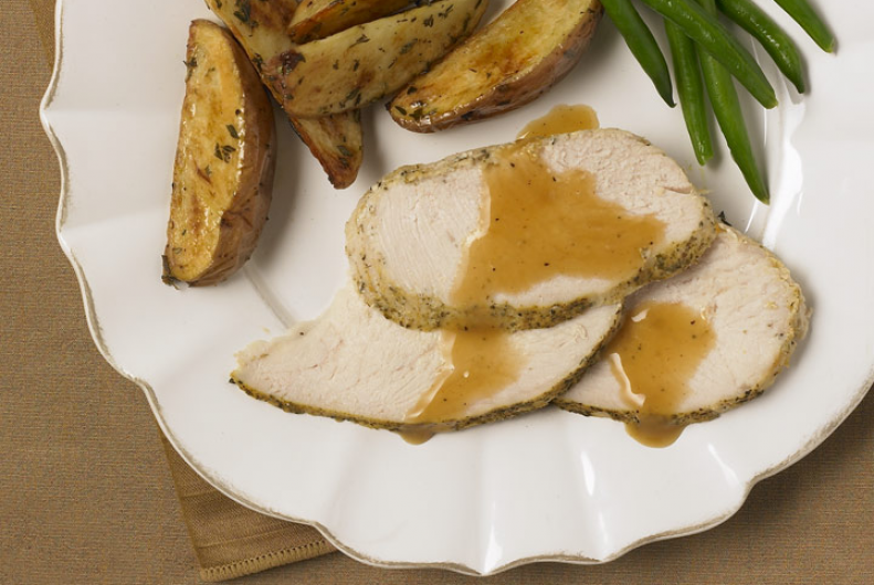 Roast Turkey with Herb Potatoes