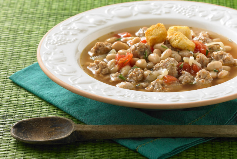 Turkey Tuscan Bean & Tomato Soup