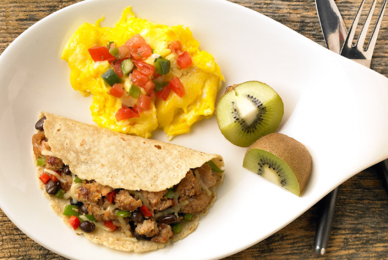 Breakfast Turkey Burrito