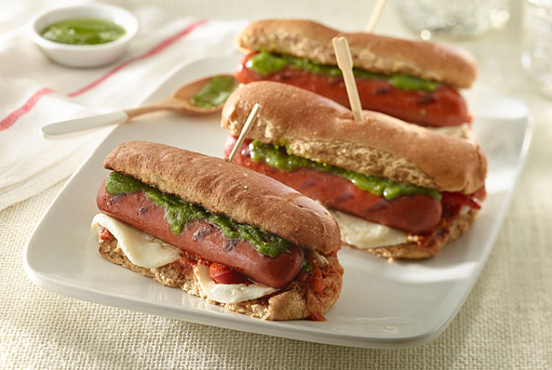 Mozzarella Pesto Turkey Franks