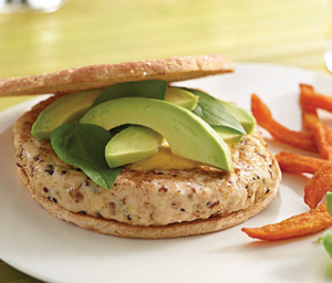 Loaded Quinoa Turkey Burgers