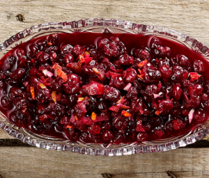 Kaffir Lime and Honey Cranberry Sauce