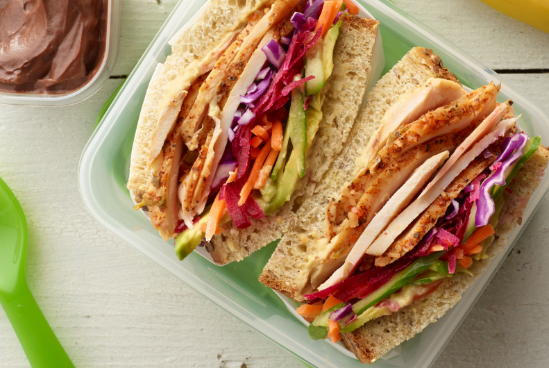 Turkey Vegetable Sandwich