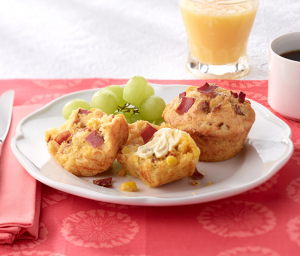Chipotle & Turkey Bacon Corn Muffins