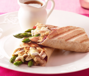 Turkey, Asparagus, Cranberry & Brie Wrap