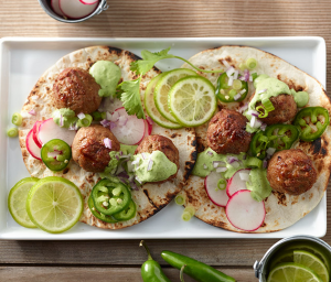 Spicy Turkey Meatball Tacos