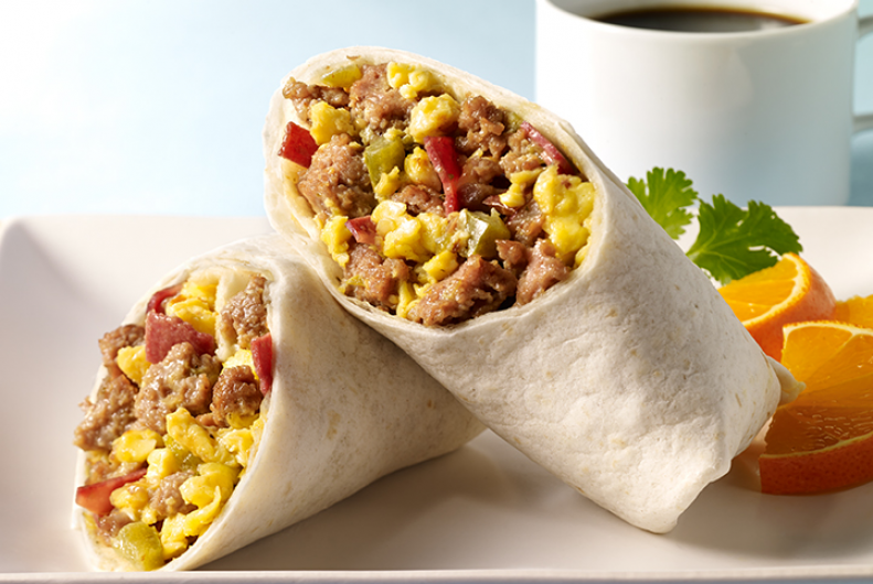 Loaded Turkey Breakfast Burritos