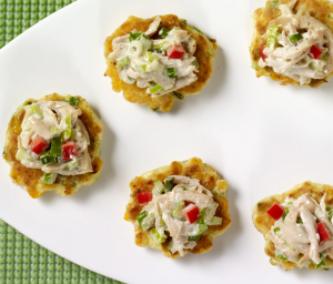 Corn Cakes with Turkey Salad