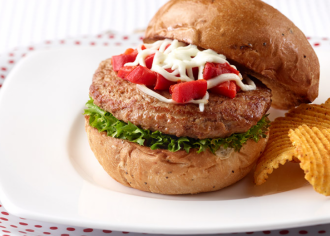 Roasted Pepper Turkey Burgers
