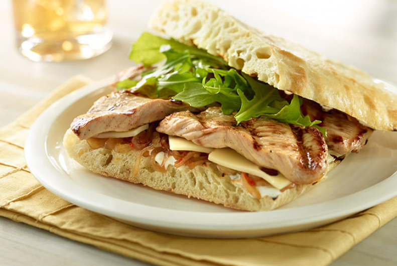 Grilled Turkey Breast Sandwich
