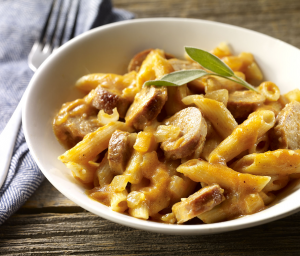 Pasta with Pumpkin & Turkey Sausage