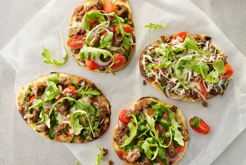 Flatbread Turkey Sausage Pizza