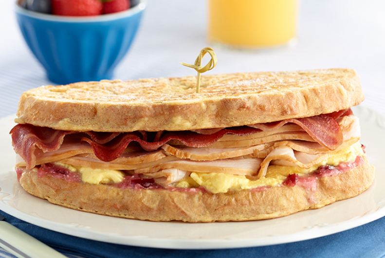 Monte Cristo Turkey Breakfast Sandwich