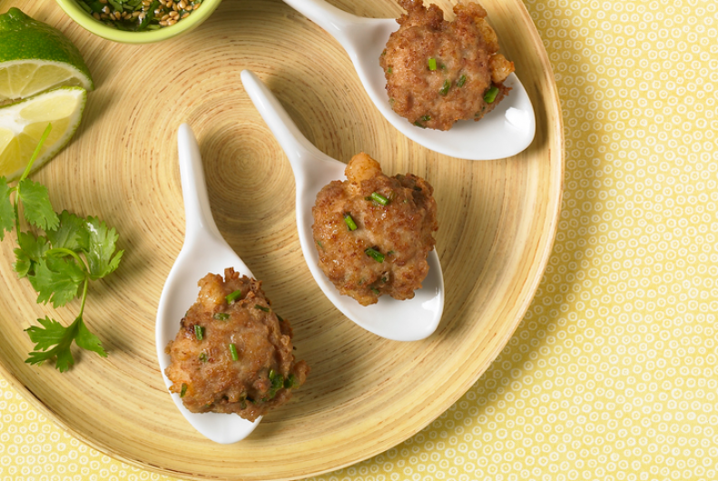 Turkey, Chive & Shrimp Cakes