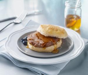 Honey Kissed Turkey Sausage Biscuit