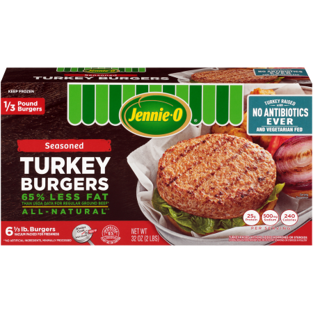 1/3 LB Seasoned Turkey Burgers - Raised Without Antibiotics