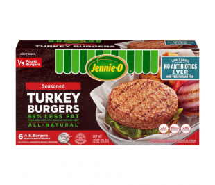 1/3 LB Seasoned Turkey Burgers - Raised Without Antibiotics