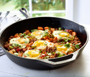 Southwestern Turkey-Sweet Potato Breakfast Hash