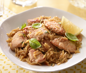 Lemon Turkey Orzo Pasta