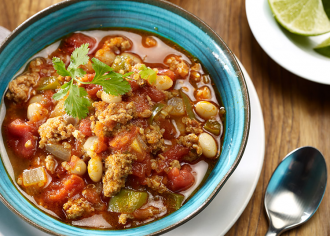 Slow Cooker Turkey Chili with Quinoa