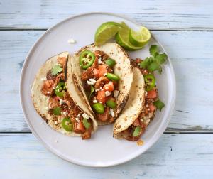 Chunky Santa Fe Turkey Tacos