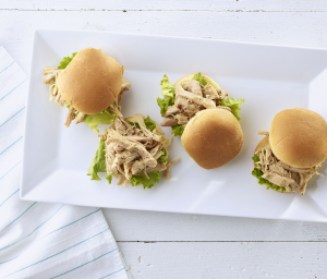 Shredded Turkey Sliders