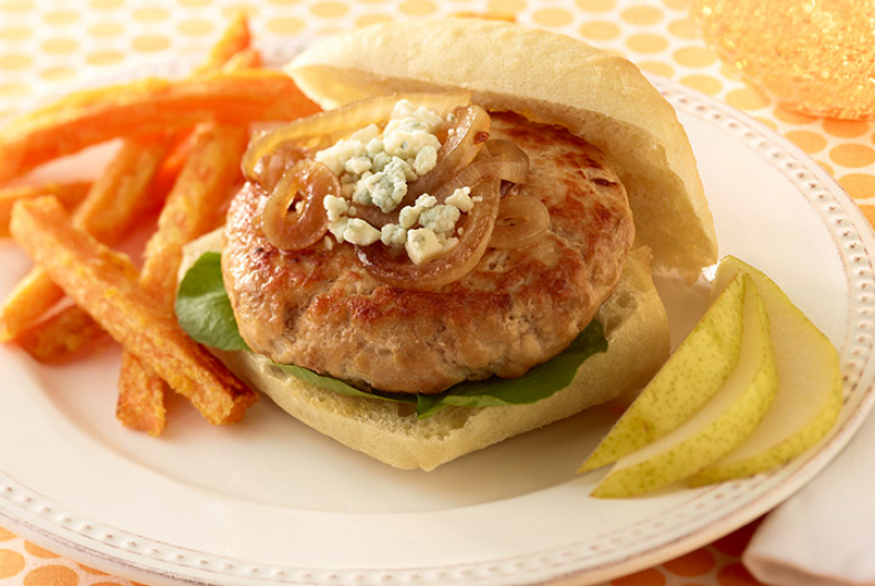 Turkey Burgers with Grilled Onion