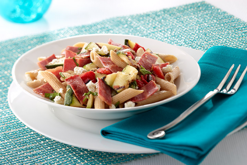 Mediterranean Turkey Bacon & Pasta Salad
