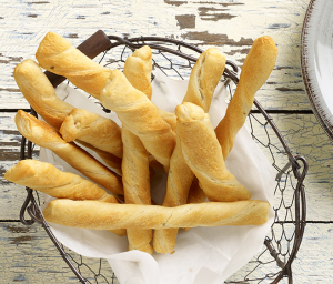 Crescent Roll Twists with Chive & Onion Cream Cheese